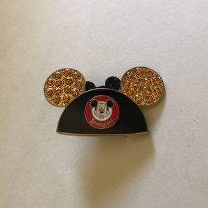 Disney 50thPin Mickey Mouse Ear Disneyland Crystal